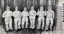 暖心!山东这位画家和大学老师将医疗队员画到画中