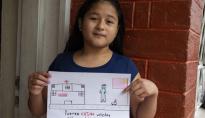 """通讯:""""中国,你能行!""""拉美儿童以绘画支持中国抗击疫情"""