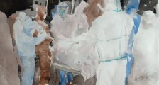 """《""""众志成城 决胜疫情"""" 安徽省青年美术家协会网络美术作品展》作品选登(二)"""